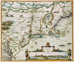 Map of New Netherland